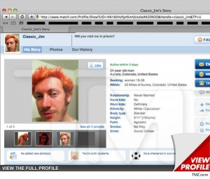 James Holmes The Match.Com Profile