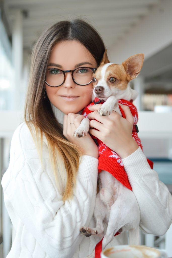 Profile picture of a lady with a pet
