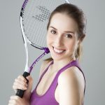 profile picture of woman with tennis racquet